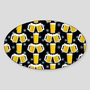 Winter Beers Sticker (Oval)