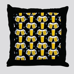Winter Beers Throw Pillow