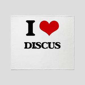 I Love Discus Throw Blanket