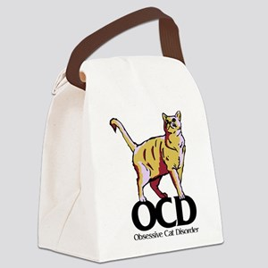 Obsessive Cat Disorder Canvas Lunch Bag