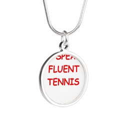 i love tennis Necklaces