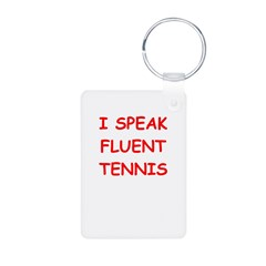 i love tennis Keychains