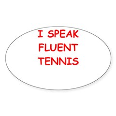 i love tennis Stickers