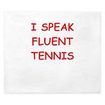 i love tennis King Duvet