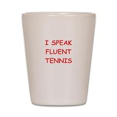 i love tennis Shot Glass