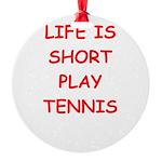 i love tennis Ornament