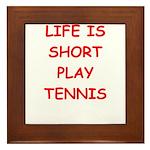 i love tennis Framed Tile