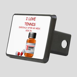 i love tennis Hitch Cover