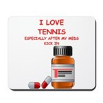 i love tennis Mousepad