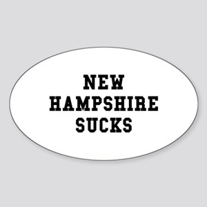New Hampshire Sucks Oval Sticker