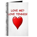 i love tennis Journal
