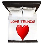 i love tennis King Duvet