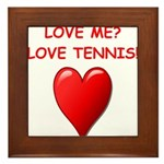 i love tennis Framed Tile