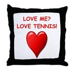 i love tennis Throw Pillow