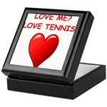 i love tennis Keepsake Box