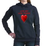 i love tennis Women's Hooded Sweatshirt