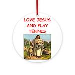 i love tennis Ornament (Round)