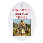 i love tennis Ornament (Oval)