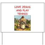 i love tennis Yard Sign