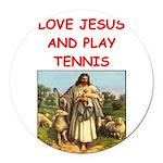 i love tennis Round Car Magnet