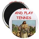 i love tennis Magnets