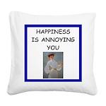 i love tennis Square Canvas Pillow
