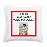 i love tennis Square Canvas Pillow