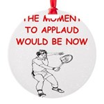 i love tennis Ornament