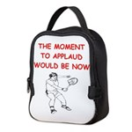i love tennis Neoprene Lunch Bag
