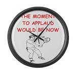 i love tennis Large Wall Clock