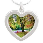Autumn in Vancouver Silver Heart Necklace