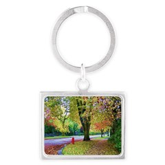 Autumn in Vancouver Landscape Keychain