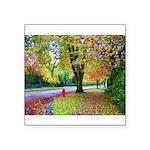 Autumn in Vancouver Square Sticker 3