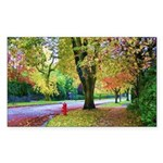 Autumn in Vancouver Sticker (Rectangle 50 pk)