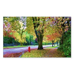 Autumn in Vancouver Sticker (Rectangle 10 pk)