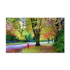 Autumn in Vancouver Rectangle Car Magnet