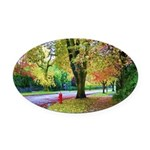 Autumn in Vancouver Oval Car Magnet