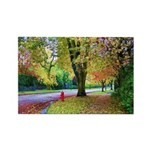 Autumn in Vancouver Rectangle Magnet (100 pack)