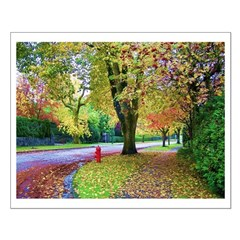 Autumn in Vancouver Small Poster