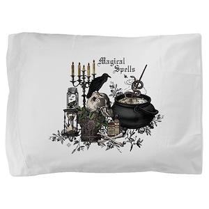 Modern vintage Halloween skull Pillow Sham