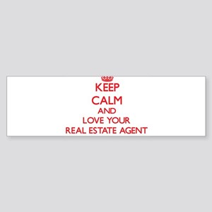 Keep Calm and love your Real Estate Bumper Sticker