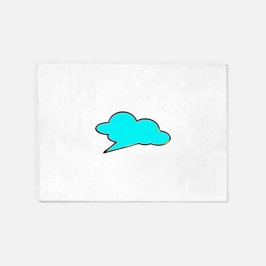 Cloud blue 5'x7'Area Rug