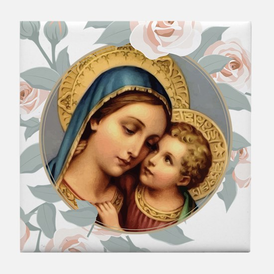 Our Lady of Good Remedy Tile Coaster