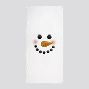 Snow Woman Beach Towel