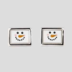 Snow Woman Rectangular Cufflinks