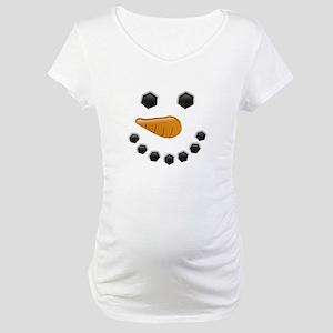 Snowman Face Maternity T-Shirt