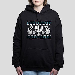 Funny Hanukkah Ugly Sweater Women's Hooded Sweatsh