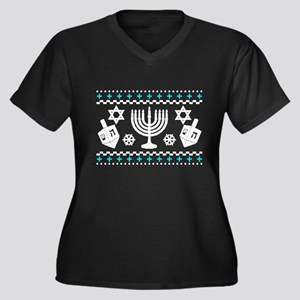 Funny Hanukkah Ugly Sweater Plus Size T-Shirt