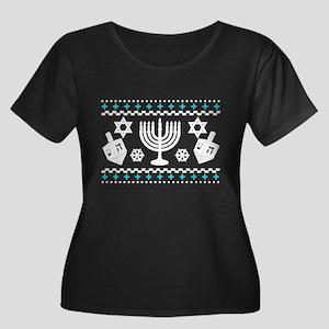 Funny Hanukkah Ugly Sweater Plus Size T-Shirt