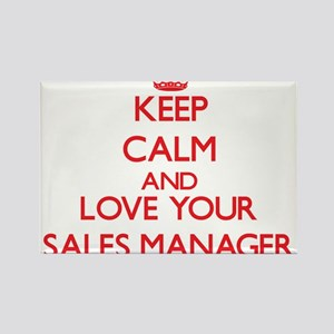 Keep Calm and love your Sales Manager Magnets